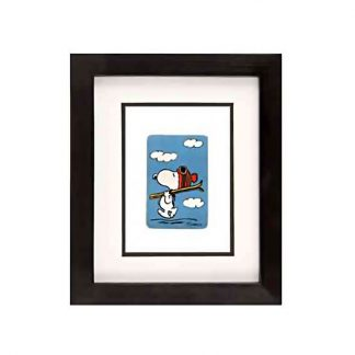 Vintage card - Snoopy with Skis