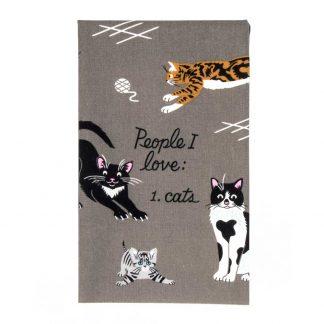 People I Love: Cats. Tea towel
