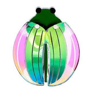 Emerald Beetle Brooch