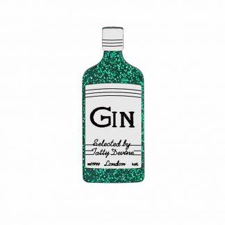 Glitter Gin Brooch