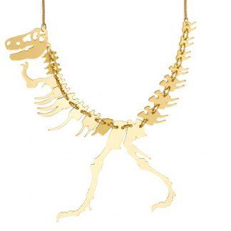 Gold Dinosaur Necklace