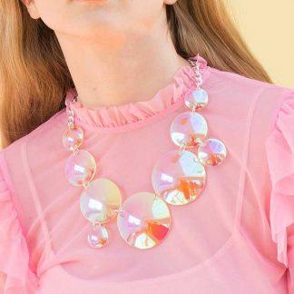 Iridescent Bubbles Large Necklace