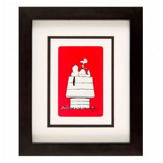 Vintage card - Snoopy at Home