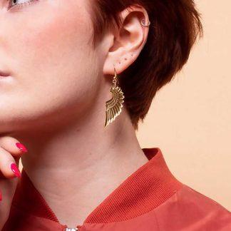 Tatty Devine Gold Pegasus Earrings