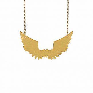 Tatty Devine Mini Pegasus Necklace, Gold