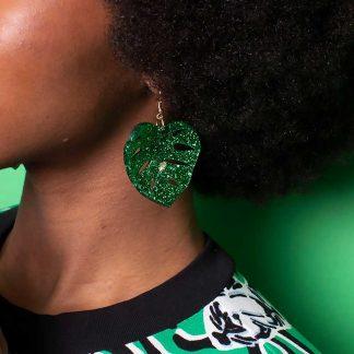 Tatty Devine Tropical Leaves Earrings