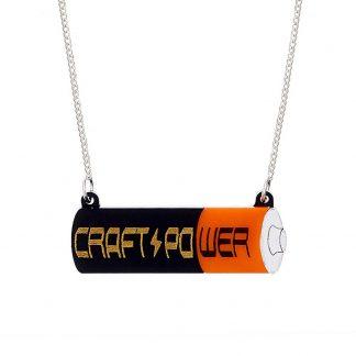 Tatty Devine Craft Power Battery Necklace