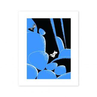 Blue Boulders Print