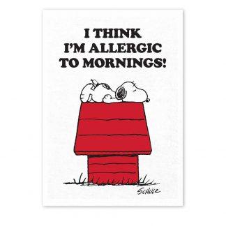 Peanuts Tea Towel - Allergic to Mornings