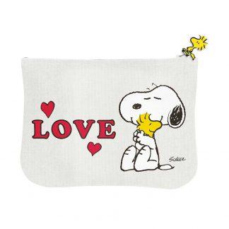 Peanuts Zipper Pouch - Love