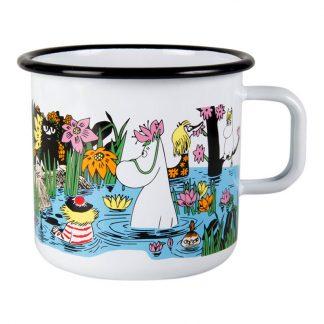 Moomin Trip to the Pond Large Enamel Mug