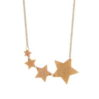 Tatty Devine Gold Dust Shooting Star Necklace