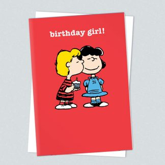 Snoopy birthday girl card