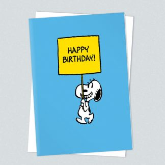 Snoopy happy birthday sign card