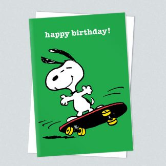 Snoopy skateboard birthday card