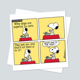 Snoopy square superior card
