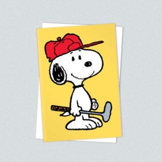 Snoopy minicard golfer