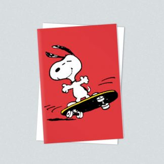 Snoopy minicards skateboarding