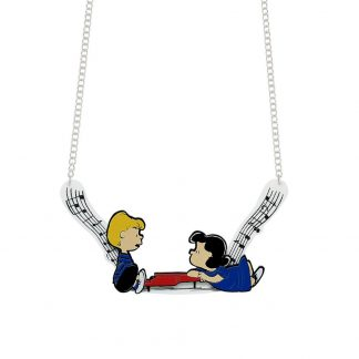 Tatty Devine Peanuts Piano Necklace