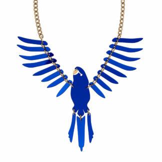 Tatty Devine Large Blue Parakeet Necklace