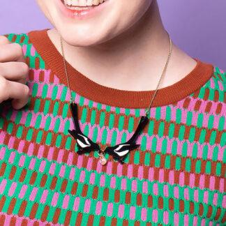 Tatty Devine Magpie necklace