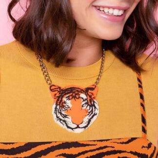 Tatty Devine Tiger Necklace Orange
