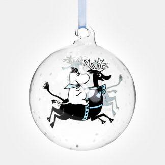 Larger Moomin Christmas Decoration – Reindeer Ride