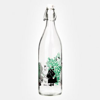 Moomin Day in the Garden Glass Bottle