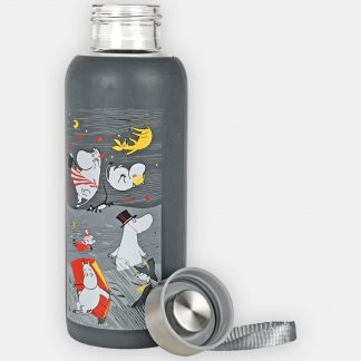 Moomin Storm Silicone Bottle, Grey