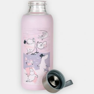 Moomin Storm Silicone Bottle, Pink