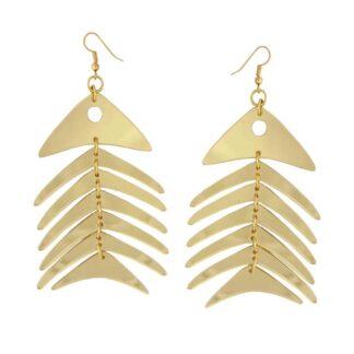 Lou Taylor Gold Fish Earrings