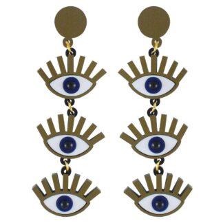 Lou Taylor Ursula Eye Earrings