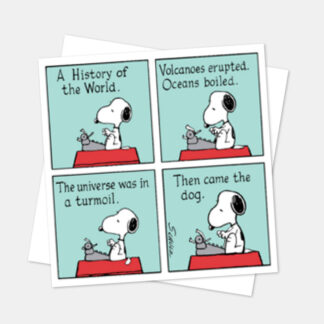 Snoopy square 'History of the World' card