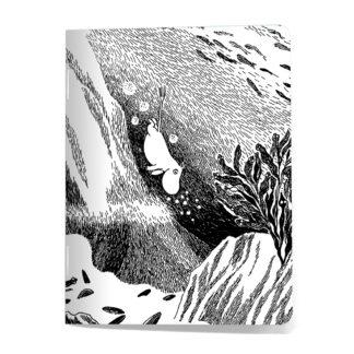 Diving Moomintroll Mini Notebook