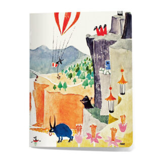 Fantastical Moomin Landscape Mini Notebook