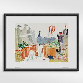 Fantastical Moomin Landscape Print