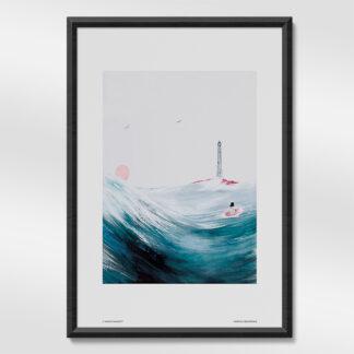 Moominpappa at Sea Print
