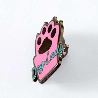 Dog Lady Enamel Pin