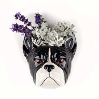 French Bulldog Wall Vase