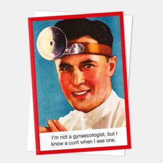 Kiss me Kwik - Gynaecologist Card