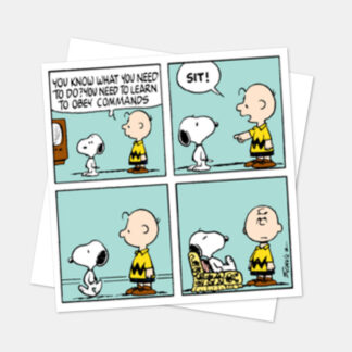 Snoopy Obey Commands