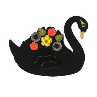 Lou Taylor Black Swan Brooch