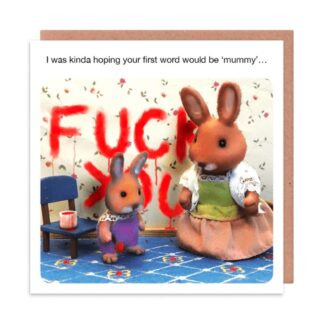 First Word, greetings card