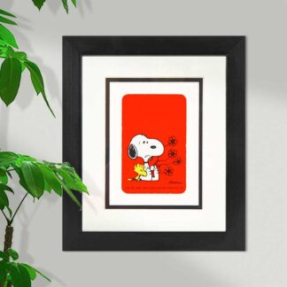Snoopy and Woodstock Flowers Framed Card