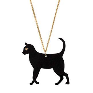 Tatty Devine Black Cat Necklace