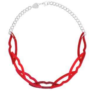Tatty Devine Lover's Lips Link Necklace