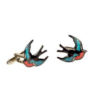 Tatty Devine swallow cufflinks