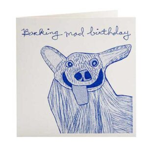 Barking Mad Birthday Card